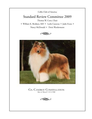 Standard Review Committee 2009 - Collie Club of America