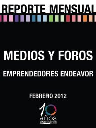 Emprendedores Endeavor Resumen de apariciones FEBRERO 2012