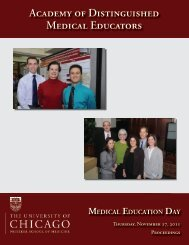 Academy of Distinguished Medical Educators - Pritzker School of ...