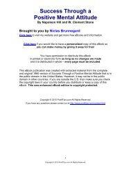 Success Through a Positive Mental Attitude - How You Succeed On ...