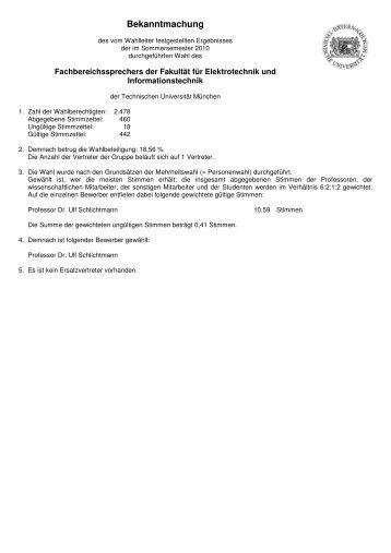 Fakultät - Fachschaft Elektrotechnik und Informationstechnik