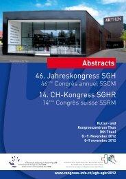 Kultur- und Kongresszentrum Thun (KK Thun) 8.–9. November 2012 ...