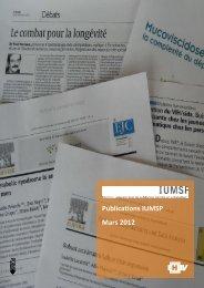 Publications IUMSP Mars 2012