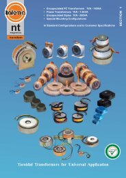 Toroidal Transformers for Universal Application - Nuvotem Talema