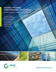 energy SAvingS PerFormAnce contrActS - Federal Performance ...