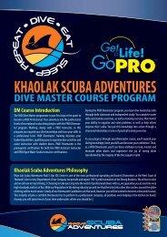 Dive Master Crew Pack - Khao Lak Scuba Adventures
