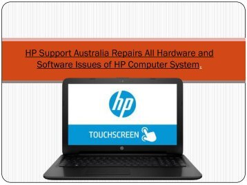 HP Support Australia Repairs All Hardware and Software Issues of HP Computer System.