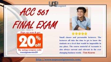 ACC 291 Course Tutorial, ACC 291 Final Exam, ACC 291