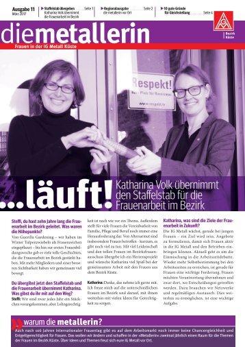 die metallerin Nr. 11: Ausgabe Lübeck-Wismar