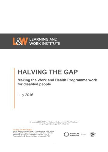 HALVING THE GAP