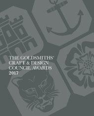 THE GOLDSMITHS' CRAFT & DESIGN COUNCIL AWARDS 2017
