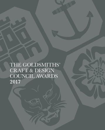 THE GOLDSMITHS' CRAFT & DESIGN COUNCIL AWARDS 2017