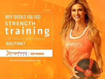 Fitness Centers in Colorado Springs - Benefits of Strength Training