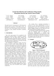 Formal Specification and Verification of Hypermedia ... - PUC-Rio