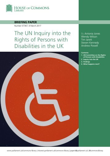 The UN Inquiry into the Rights of Persons with Disabilities in the UK