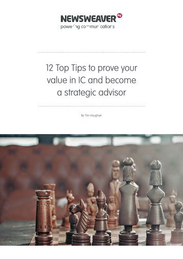 12 Top Tips to prove your value in IC and become a strategic advisor