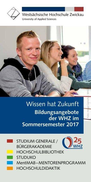 Wissen hat Zukunft Sommersemester 2017