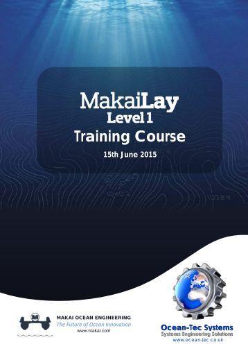 Makai Lay Level 1 Training Course(15-06-15)