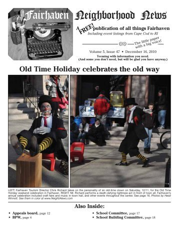 Click here to download a copy of the - Fairhaven Neighborhood News