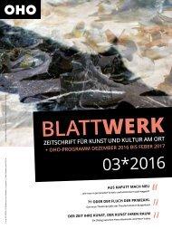 BLATTWERK AUSGABE 03*2016