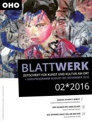 BLATTWERK AUSGABE 02*2016