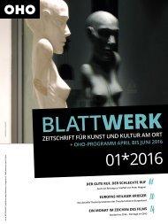 BLATTWERK AUSGABE 01*2016