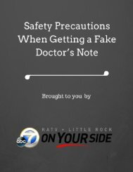 Safety Precautions When Getting a Fake Doctor's Note