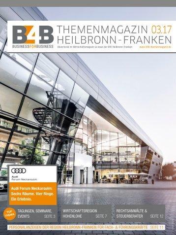 TAGUNGEN, SEMINARE, EVENTS | B4B Themenmagazin 03.2017