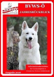 BVWS-Ö Jahresrückblick 2016