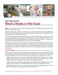 Get The Facts: What's Really In Pet Food - Born Free USA
