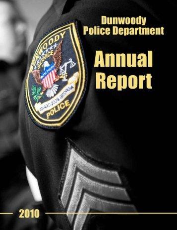 2010 Dunwoody Annual Report - the City of Dunwoody Georgia