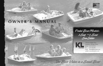 Pedal Boat-Owner's Manual - KL Industries