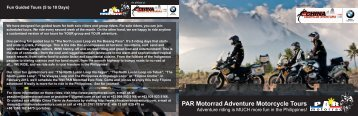 PAR Motorrad Adventure Motorcycle Tours