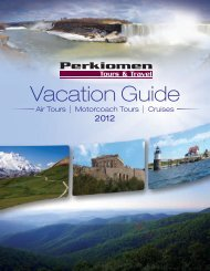 view our 2012 Vacation Guide - Bus Tours
