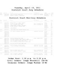 Judge Thornhill - Linn County Bar Association