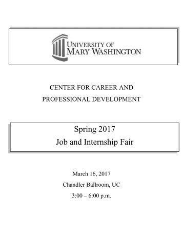 Spring 2017 Job and Internship Fair