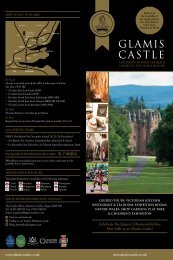 2012 information leaflet - Glamis Castle