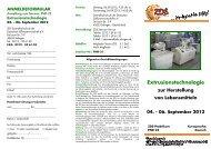 Extrusionstechnologie zur Herstellung von Lebensmitteln 04.