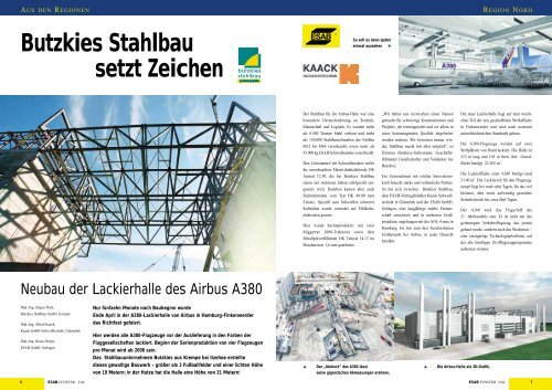 Butzkies Stahlbau setzt Zeichen - Kaack Schweißtechnik GmbH