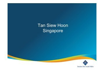 Tan Siew Hoon Singapore - Tourism NSW