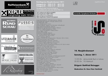 Programm - Innviertler Symphonie Orchester