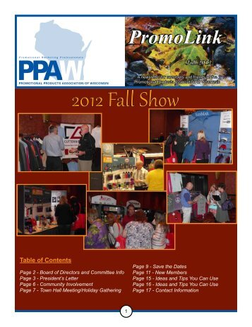 2012 Fall Show - Regional Association Council