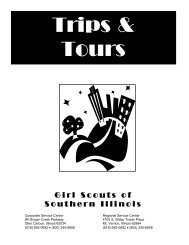 Trips & Tours - Girl Scouts of Southern Illinois