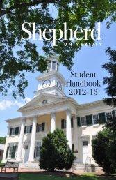 Student Handbook 2012-13 - Shepherd University
