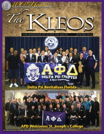 Kleos summer 05 - Alpha Phi Delta Foundation