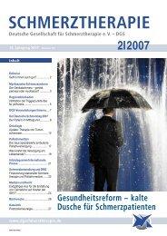 Schmerztherapie 2/2007 - Schmerz Therapie Deutsche Gesellschaft ...