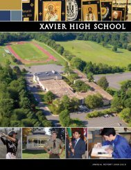 2009-2010 Annual Report - Xavier High School