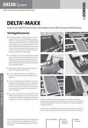 Verlegehinweise und Ausschreibungstexte DELTA®-MAXX
