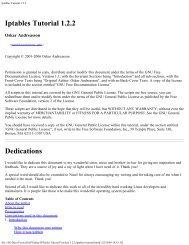 Iptables Tutorial 1.2.2 - Bandwidthco Computer Security