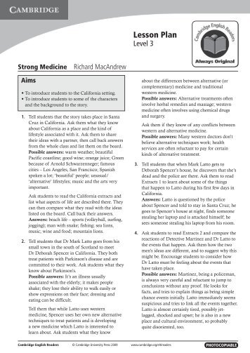Strong Medicine - Cambridge University Press